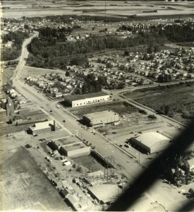 Aerial photo of Red Deer & Michener