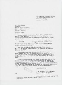 Alberta Eugenics Board Document