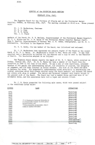 Minutes of the Eugenics Board Meeting February 20, 1947-1